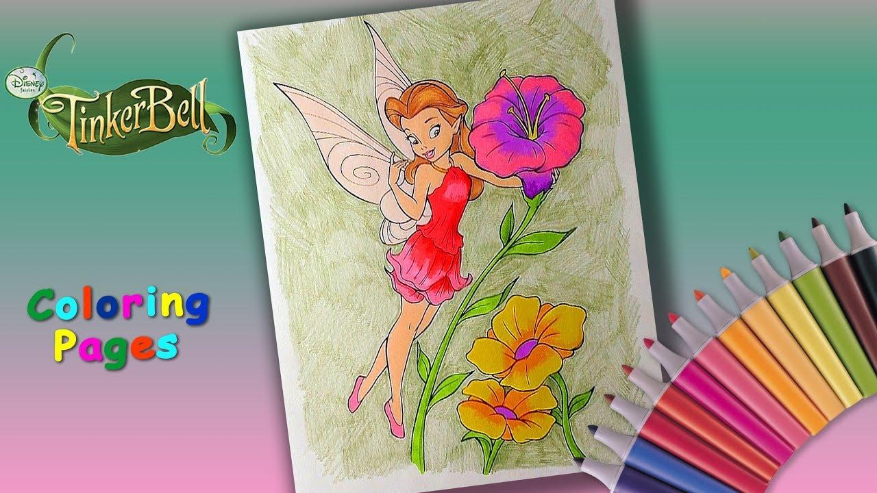 Coloring Pages Disney Fairies l Rosetta Coloring Book l ...