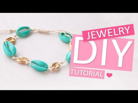 DIY Tutorial – Sieraden gemaakt met kauri schelpjes - Zelf sieraden maken