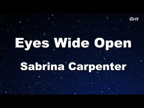 Eyes Wide Open - Sabrina Carpenter Karaoke 【No Guide Melody】 Instrumental