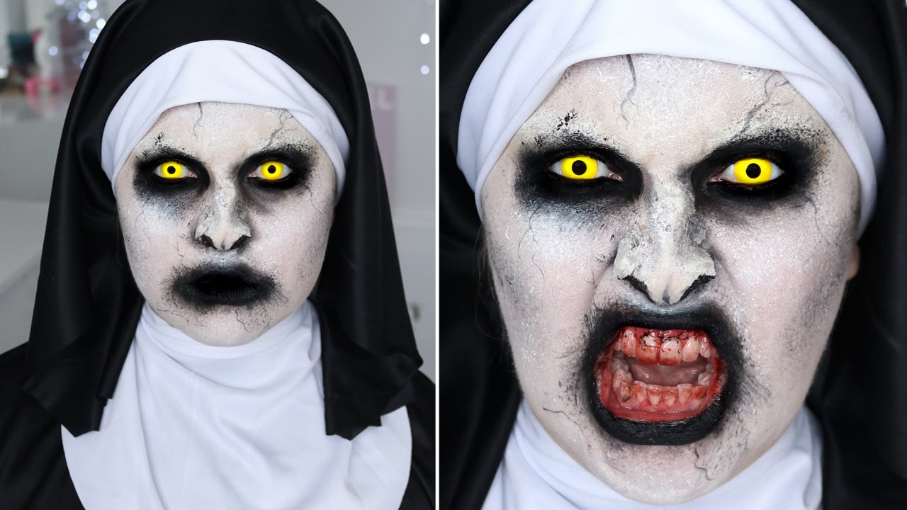 the conjuring 2 valak nun ♡ sfx halloween makeup tutorial - youtube