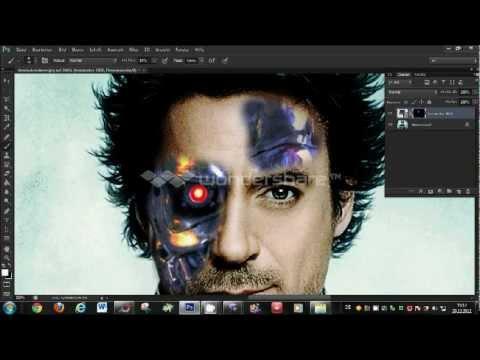 Photoshop CS6: Terminator Face, Tutorial HD 2013 (very easy)