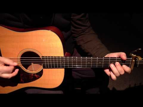(1)Bluegrass Guitar Lessons- Road To Columbus Played Slow