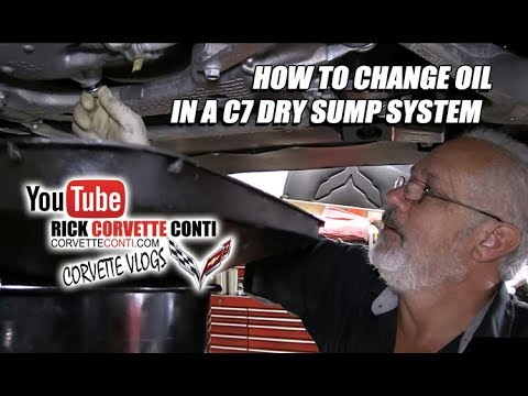 HOW TO CHANGE OIL IN A DRY SUMP C7 CORVETTE