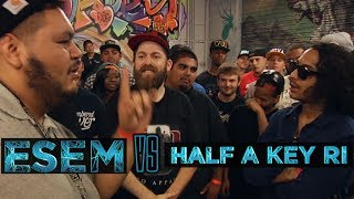 BOTZ2 - Rap Battle - Esem vs Half A Key Ri
