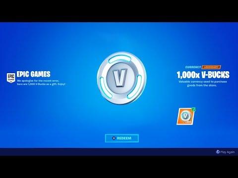 REDEEM *NEW* 1000 VBUCKS REWARD! (Thanks Epic!)