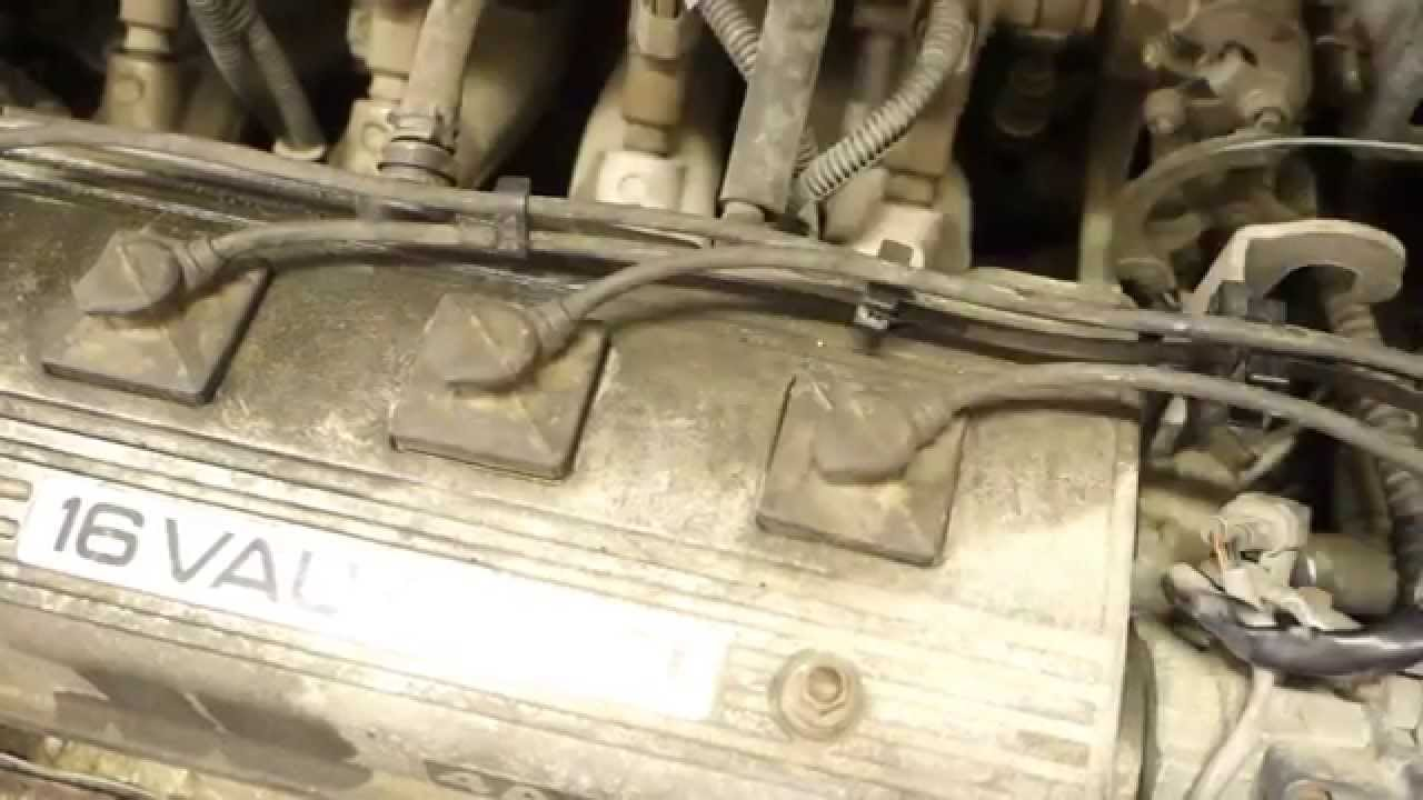 how to replace spark plug cables toyota corolla years 1991 to 2000 [ 1280 x 720 Pixel ]