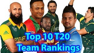 Top 10 T20 Team Rankings 2018||Top 10 T20I|Cricket Teams with ICC Ranking 2018
