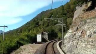 Centovalli railway drivers view 1/3 Locarno-Domodossola チェントヴァッリ鉄道