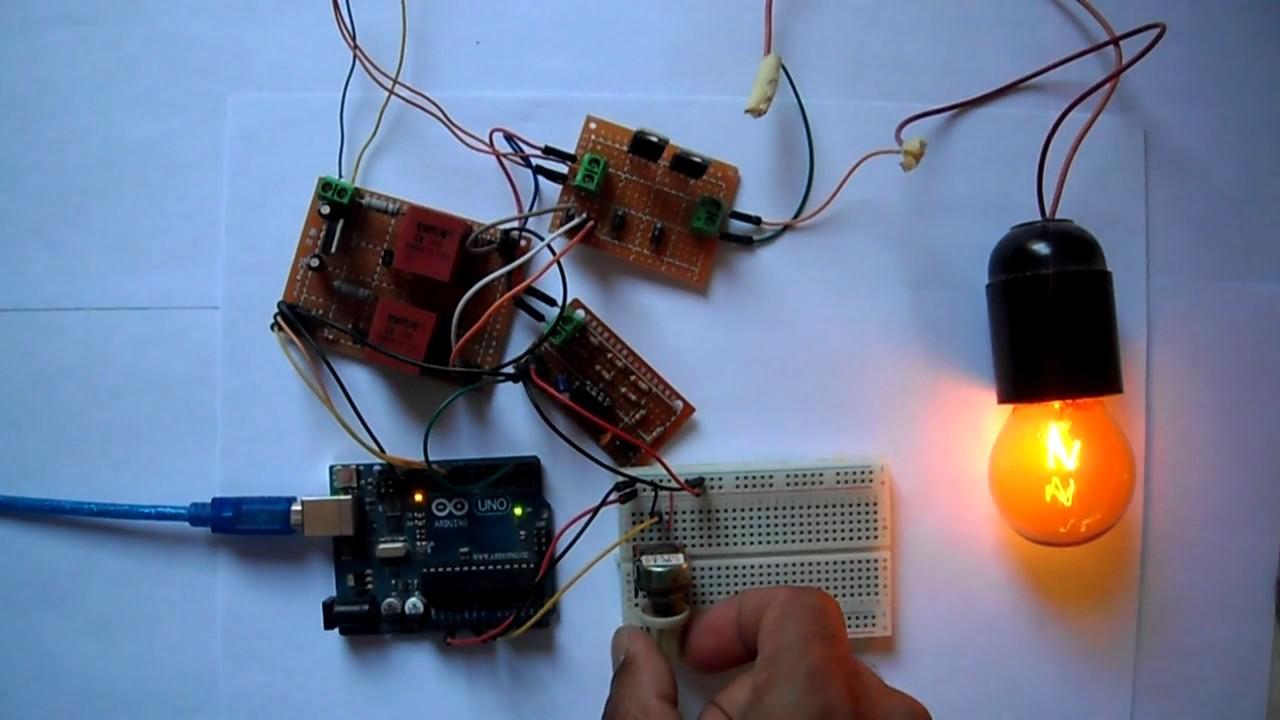Arduino controlled bridge rectifier   Lamp brightness control