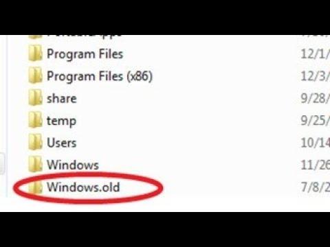 Delete Windows.Old Folder & Get Upto 16 GB Free Space In Windows 10 PC