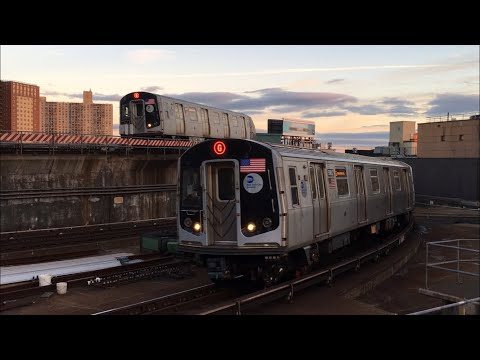 IND/BMT Subway: (G) and (Q) Trains Ends/Begins Service @ Coney Island (R160A-2, R160B)