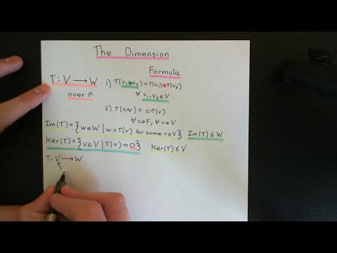 The Dimension Formula Part 1