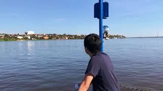 パラグアイの首都・アスンシオン市。向かいのチャコ・イからアスンシオンまで「世界ふれあい街歩き」風に撮影
