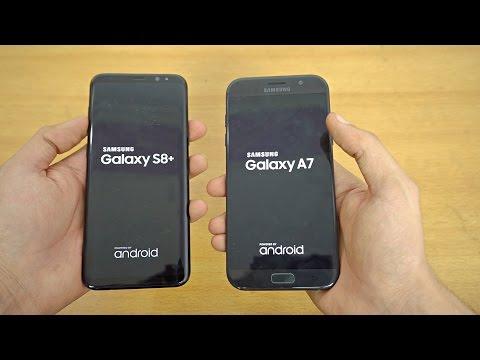 Samsung Galaxy S8 Plus vs Galaxy A7 (2017) - Speed Test! (4K)