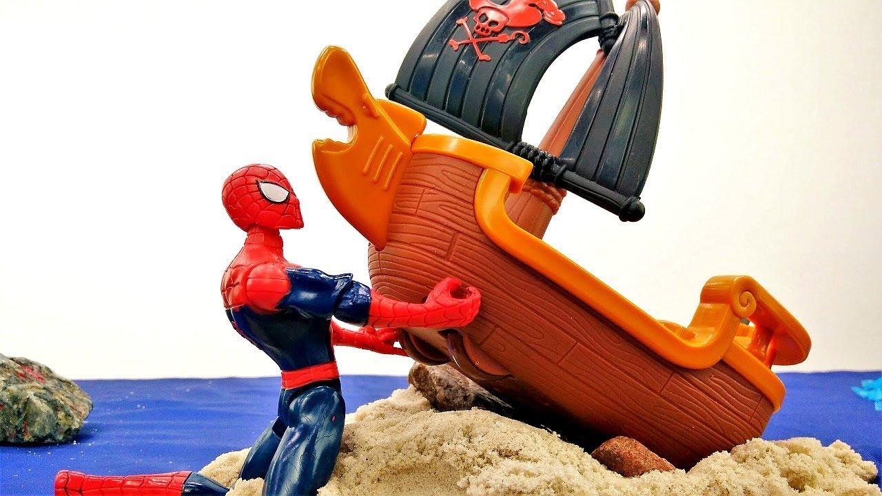 Супергерои и Пираты - Человек Паук чинит пиратский корабль ...