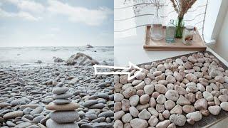 как сделать массажный коврик из камней для дома? DIY коврик