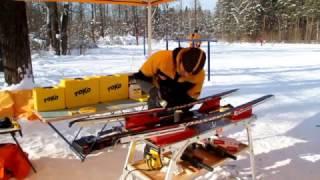 Подготовка коньковых лыж