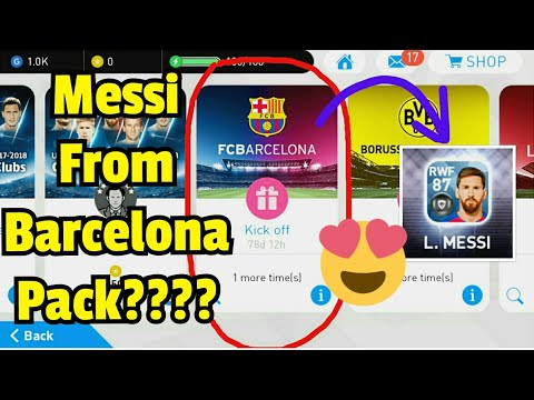 Getting MESSI from Barcelona Pack - Pes 18 first pack in new account