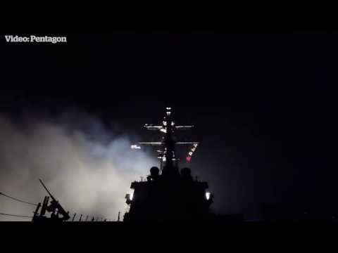 Pentagon releases Syria missile launch vision