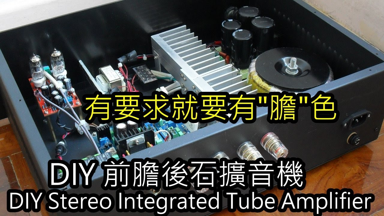 DIY Stereo Integrated Tube Amplifier,
