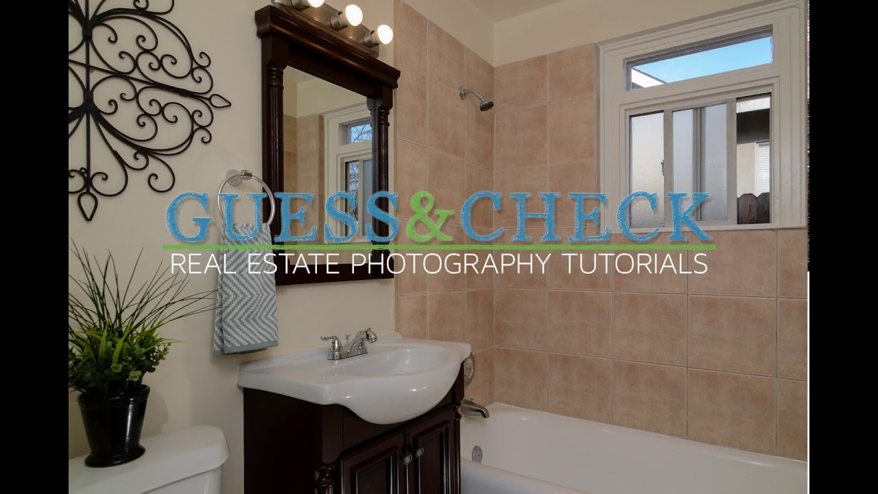 Photographing A Small Bathroom Using Off Camera Lighting