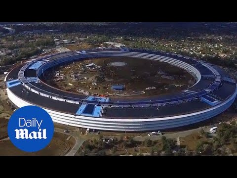 Take a tour around the developing Apple HQ in Cupertino - Daily Mail
