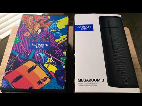 Ultimate Ears Megaboom 3 Bluetooth Portable Speaker Unboxing 8-10-19