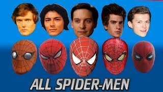 EVERY SPIDER-MAN ACTOR EVER (Outdated) From the 70s to Tom Holland's Spider-Man Homecoming 2017