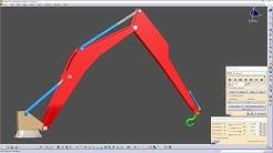 CATIA V5 - DMU KINEMATICS - HYDRAULIC ARM