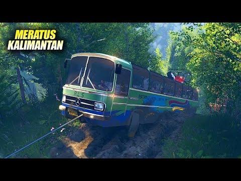 Bus Tua Di Jalur Kalimantan Meratus - Spintires