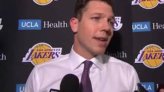 Luke Walton on his takeaways from tonight's loss and the Lakers performance down the stretch