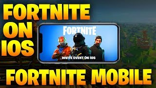 FORTNITE ON IOS!! - Fortnite: Battle Royale ON MOBILE IOS/ANDROID