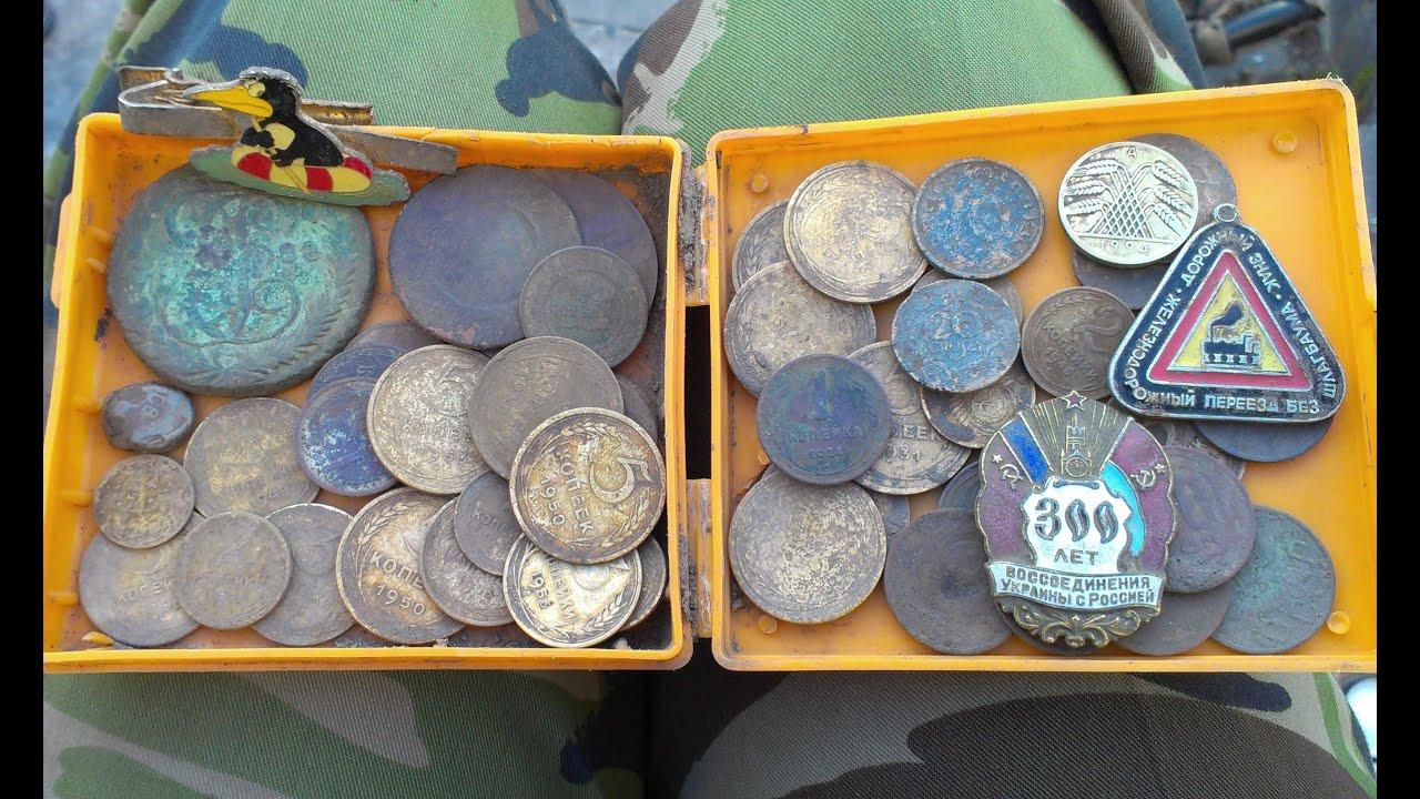 Поиск монет (лес после дождя) - youtube.