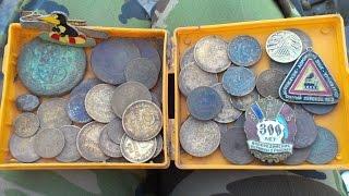 видео поиск монет с металлоискателем