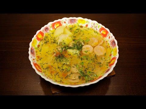 Суп в мультиварке из сосисок