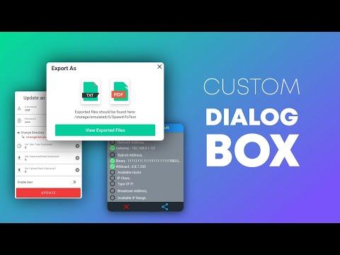 Android Custom Dialog