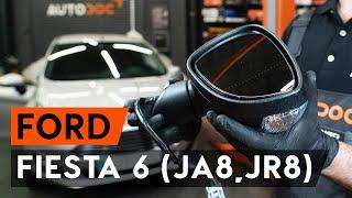 Hoe een spiegel / buitenspiegel / zijspiegel / autospiegel op een FORD FIESTA JA8 [AUTODOC-TUTORIAL]