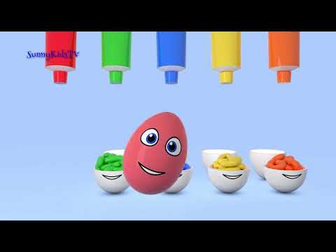 Learn colours Surprise eggs 3D Cartoons for children Video for kids movie animated funny