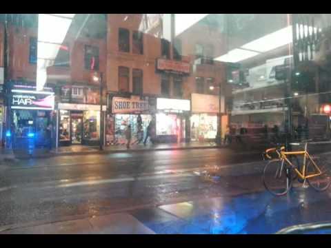 Djing on yonge street in Toronto at Play De Record