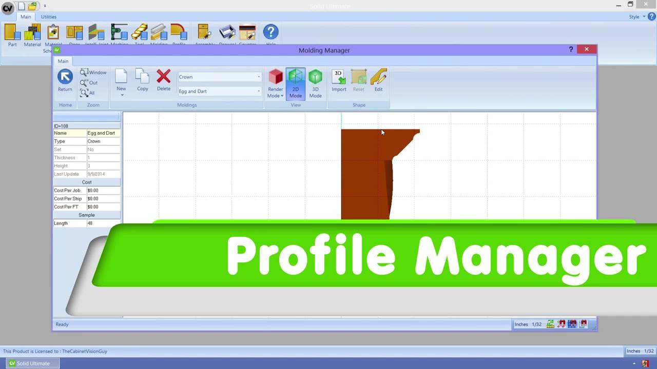 Mademaq : Cabinet Vision Version 9 - Patrones para modelar y ...