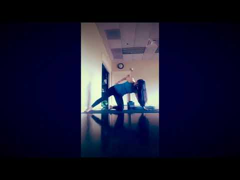 Wall Yoga for Strengthening Core, Shoulders