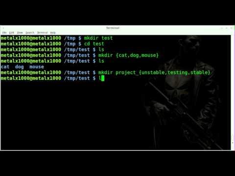 Brace Expansion - Create Folder And Files - BASH - Linux
