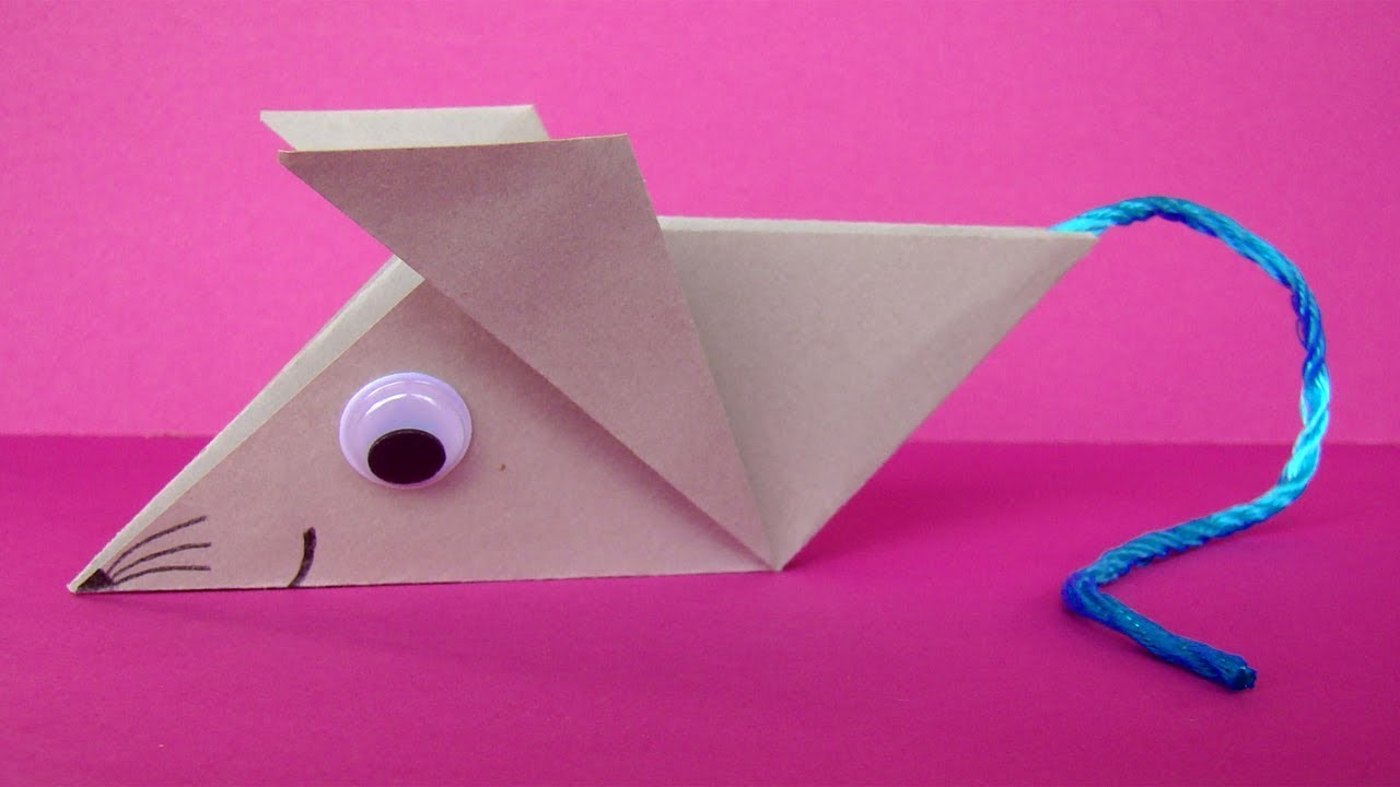 Falten Mit Papier Origami Mouse How To Make A Mouse With Paper