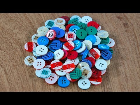 Diy Art and Craft With Buttons ! Best Out Of Waste Craft idea ! Recycle Old Things !