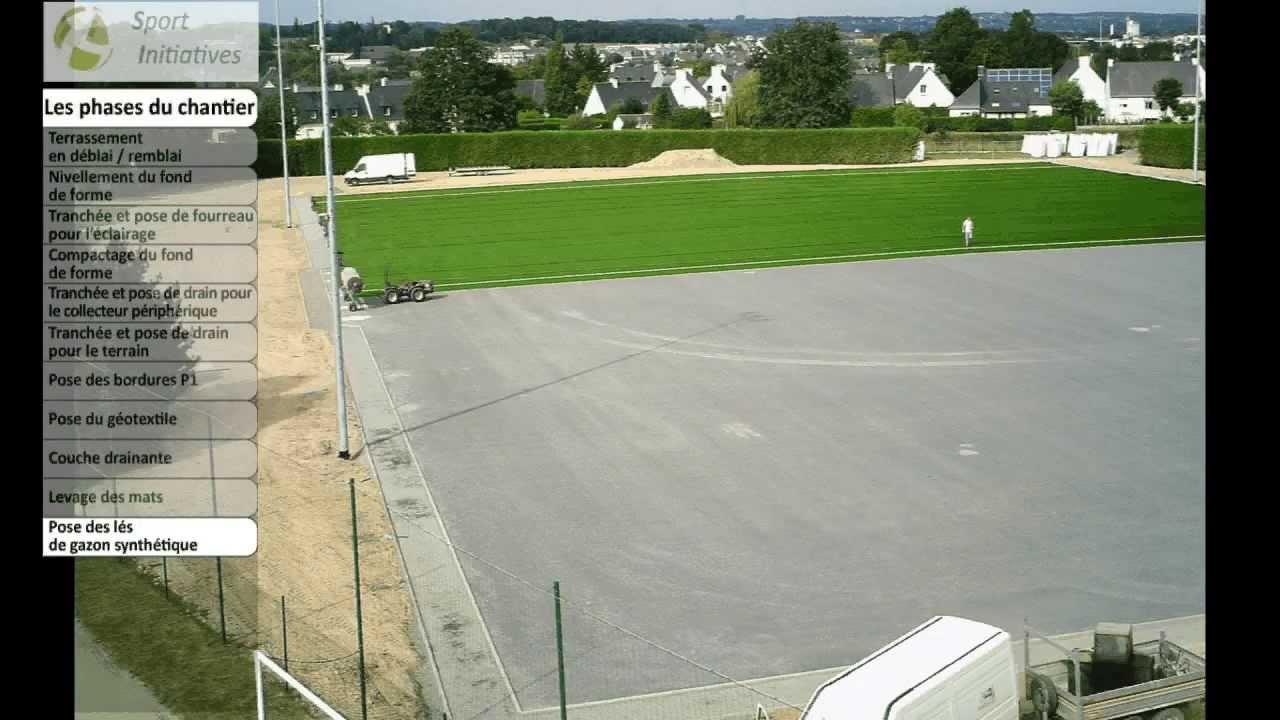 R alisation d 39 un terrain de football en gazon synth tique for Cout pour cloturer un terrain