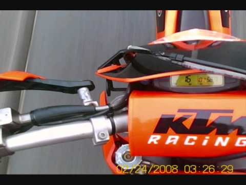 ktm exc 125 acceleration 0-60 mph in 5 seconds - youtube