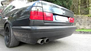 BMW E34 525i M50 VANOS UUC AUTOWERKS EXHAUSTS SOUND FULL HD