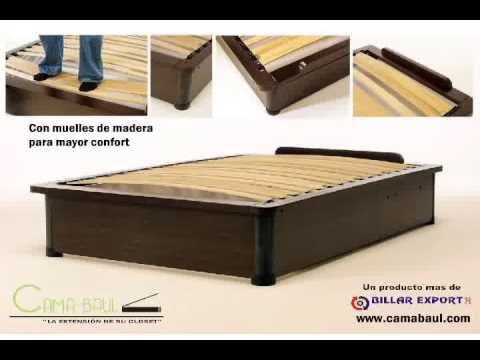 Cama baul youtube for Como hacer una base para cama matrimonial