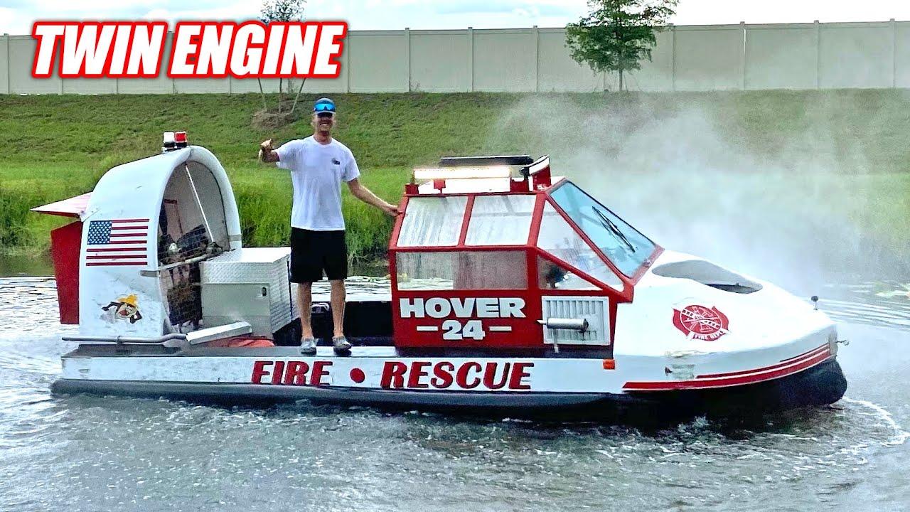 I Bought a MASSIVE Fire & Rescue HOVERCRAFT!