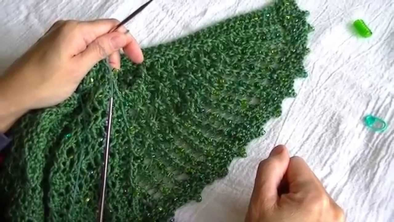 Modified Stretchier Picot Beaded Bindoff - YouTube